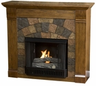 Antique Oak Underwood Gel Fireplace