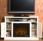 Antique White Savannah Media Electric Fireplace