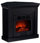 Black Bastrop Petite Convertible Electric Fireplace