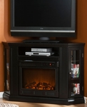 Black Ponoma Convertible Media Electric Fireplace