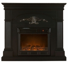 Black Salerno Electric Fireplace