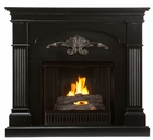 Black Salerno Gel Fireplace