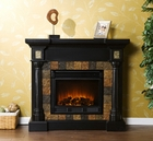 Black Weatherford Convertible Electric Fireplace