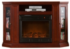 Cherry Ponoma Convertible Media Electric Fireplace