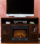 Espresso Akita Media Electric Fireplace