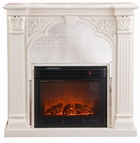 Ivory Andorra Electric Fireplace