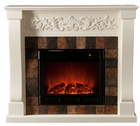 Ivory Calgary Electric Fireplace