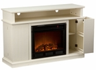 Ivory Fenton Media Electric Fireplace