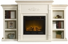 Ivory Fredricksburg Electric Fireplace w/ Bookcases