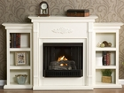 Ivory Fredricksburg Gel Fireplace w/ Bookcases