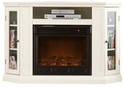 Ivory Ponoma Convertible Media Electric Fireplace