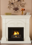 Ivory Salerno Gel Fireplace