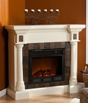 Ivory Weatherford Convertible Electric Fireplace
