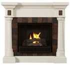 Ivory Weatherford Convertible Gel Fireplace