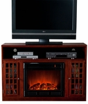 Mahogany Akita Media Electric Fireplace