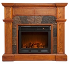 Mission Oak Cypress Electric Fireplace