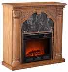 Old World Oak Bedford Electric Fireplace