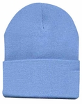 Beanie Ski Cap Hat in Light Blue