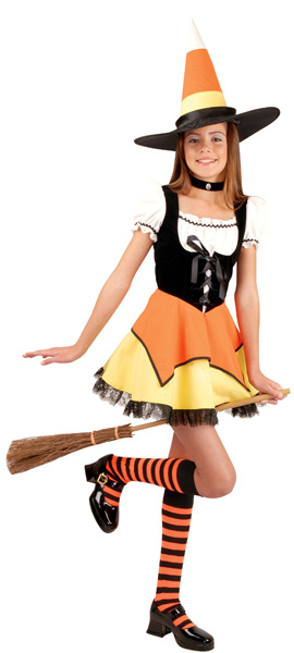 Preteen Candy Corn Witch Costume