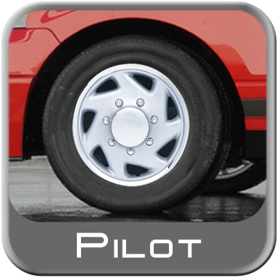 "Pilot Automotive 16"" Silver Truck Hub Caps 7-Lug Twist Style Set of 4 Truck Wheel Covers"