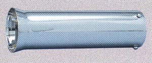 "Superior Chrome Exhaust Tip Chrome Plated Steel Flared Bazooka Tip fits up to 2"" diameter, 9"" Long"