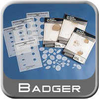 Badger Airbrush Templates Includes 44 Laser cut Circle Templates