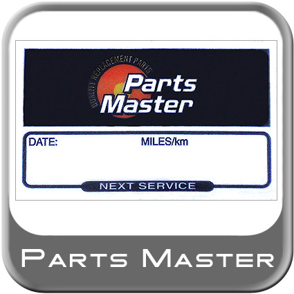 Parts Master Service Reminder Labels Filter, Service or Oil Change Sticker Static Cling Peel-n-Stick Reminder