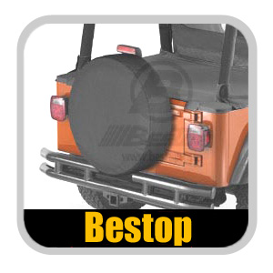 "Bestop Black Spare Tire Cover Black Vinyl Material/Color Medium (29"" x 9"")"