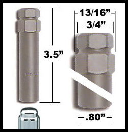 Excalibur Small Diameter Lug Nut Key fits 7-Spline Small Diameter Tuner Lug Nuts