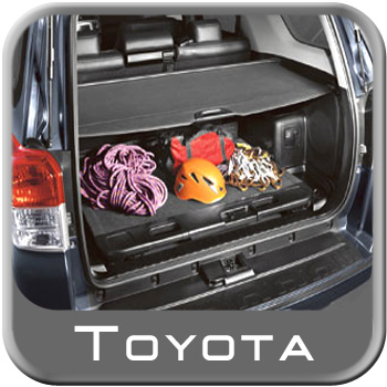 2010-2014 Toyota 4Runner Cargo Cover Retractable Rear Cargo Cover Black Vinyl w/Metal Rollup Casing