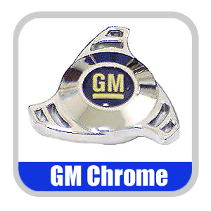 Promotive Air Cleaner Wing Nut Chrome w/Blue & White GM Logo
