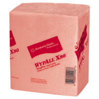 Kimberly Clark Wypall X80 ShopPro Towel 50 Pack Orange/Red