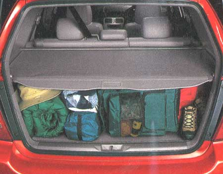 1998-2000 Subaru Forester Cargo Cover Gray, Auto-Retractable Style
