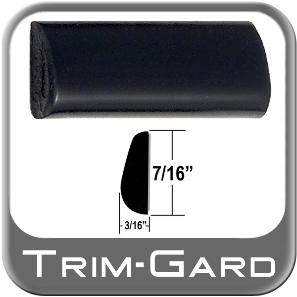 "Black Wheel Molding Trim 7/16"" Wide Wheel Trim Tear Drop Style"