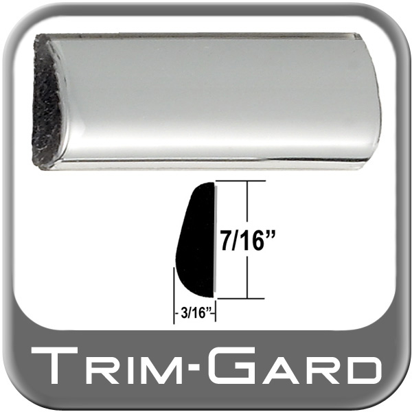 "Chrome Wheel Molding Trim 7/16"" Wide Wheel Trim Tear Drop Style"