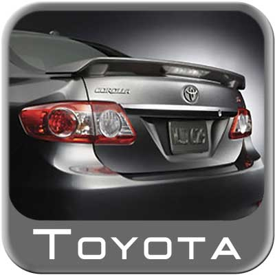 2011-2013 Toyota Corolla Rear Spoiler Various Colors