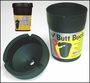 Butt Bucket Ashtray Extinguishing Ashtray Black Plastic w/Lid