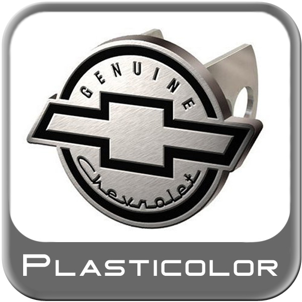 """Plasticolor Chevrolet Hitch Cover Genuine Chevrolet w/Bowtie Brushed Billet Aluminum fits 2"""" and 1-1/4"""" Trailer Hitches"""