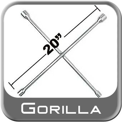 "Gorilla 4-Way Lug Wrench Tire Iron 20"" x 20"" Length"