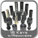 Lug Nut Master Key Set w/Removers