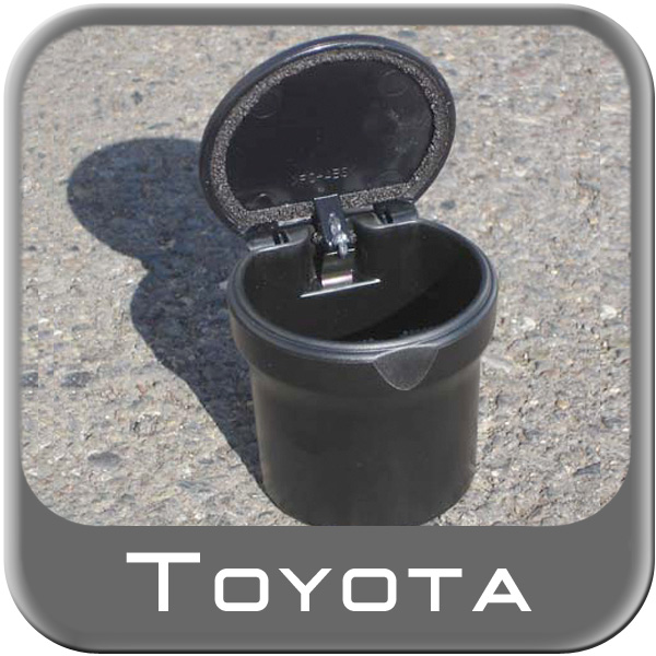 Car Ashtray / Change Cup Black Plastic Cup w/ Lid Fits Most Cup Holders Large Size