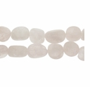 Rose Quartz Medium Nugget Beads (16-inch strand)