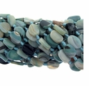 Amazonite Matrix 20x15mm Oval Beads 14 Inch Strand
