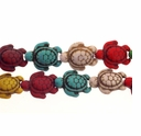 Mixed Color Turquoise Turtle Beads 16 Inch Strand