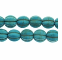 10mm Turquoise Melon Beads 16 Inch Strand