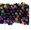 10mm Mixed Faceted Agate Beads 16 Inch Strand
