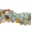 Amazonite w/Matrix 6mm Round Bead 16 Inch Strand