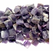 Amethyst Quartz 20mm Diamond Beads 16 inch Strand