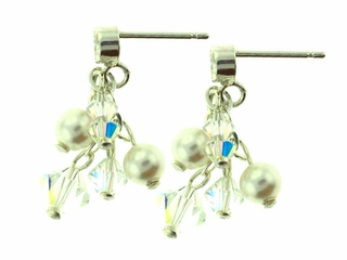 Dazzling Pearl and Crystal Earrings