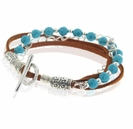 Turquoise and Suede Bracelet Design Kit